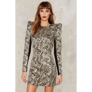 Nasty Gal Collection Jacquard Constantine Dress XS